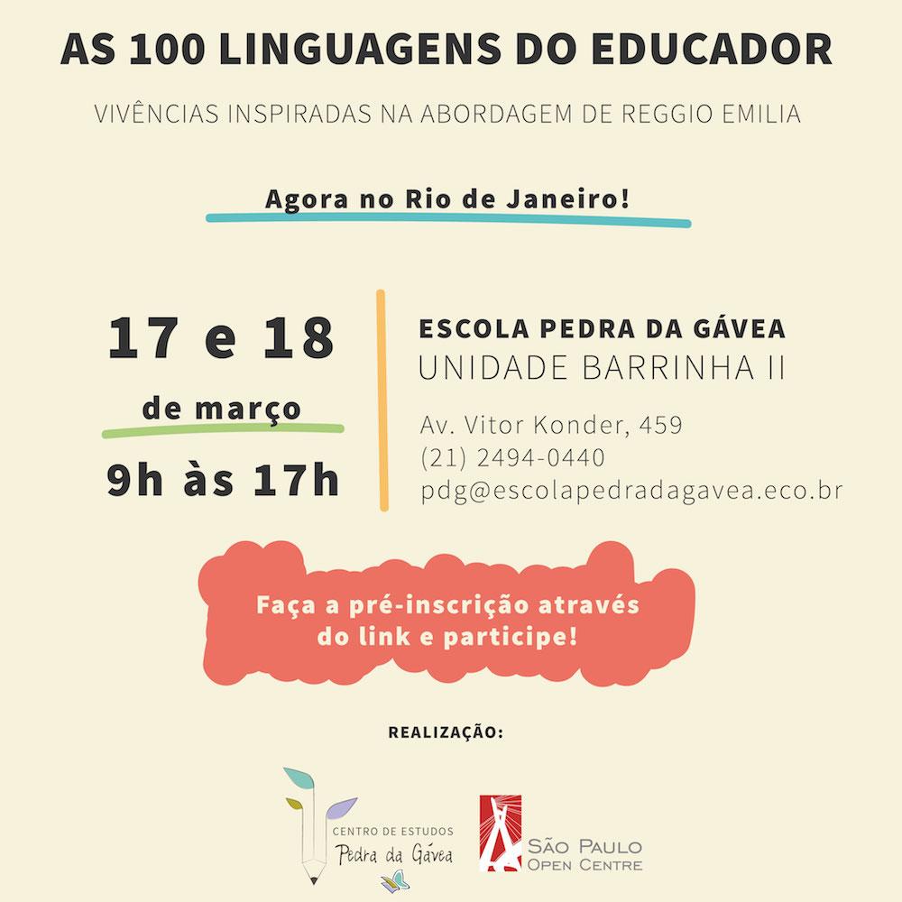 As 100 Linguagens do Educador - Vivências inspiradas na abordagem Reggio Emilio